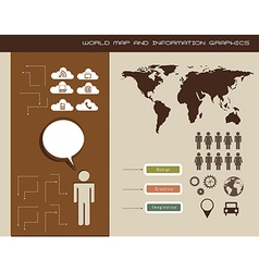 information graphics vector image