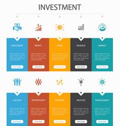 Investment infographic 10 option ui designprofit vector