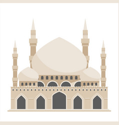 Islam traditional architecture mosque house vector