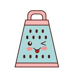 Kitchen grater kawaii character vector