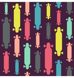 Longboards seamless pattern vector image
