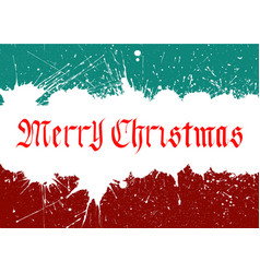 Merry christmas lettering over background vector