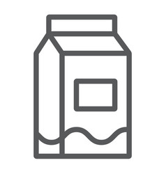 milk line icon drink and food milk pack sign vector image