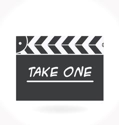 Movie clap icon vector