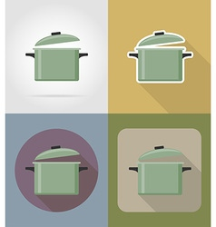 Objects for food flat icons 02 vector
