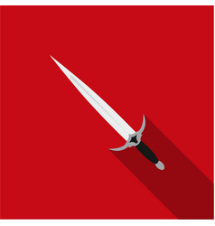 One-handed sword icon flate single weapon icon vector