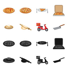 Pizza and food icon vector