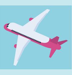 Plane aero transportation symbol with wings vector