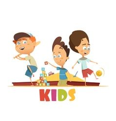 Playing Children Concept vector image