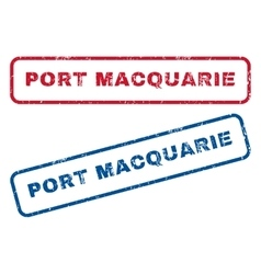 Port Macquarie Rubber Stamps vector image