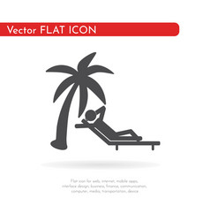 Relax icon for web business finance and vector
