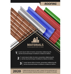 roofing template design for brochure business f vector image