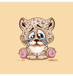 Sad leopard cub crying vector