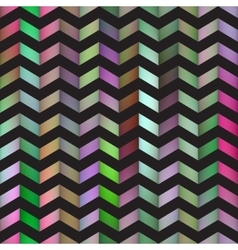Seamless Colorful Gradient ZigZag Black vector