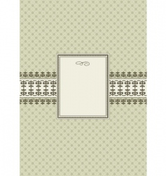 Seamless pattern and ornamental frame vector