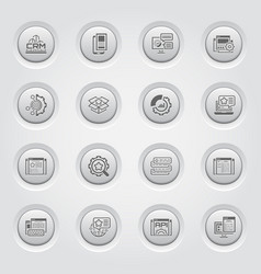 Set of business and marketing flat icons vector