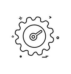 setting gear icon design vector image