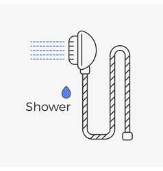 Shower thin line icon vector image