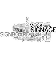 Signage word cloud concept vector