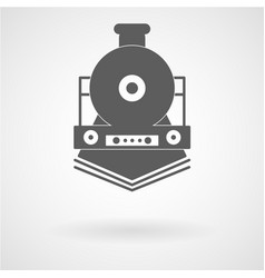 Simple train icon vector