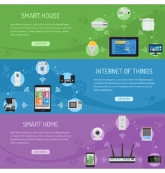 Smart House and internet of things Horizontal vector