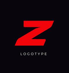 Speed letter z red race monogram logo italic vector