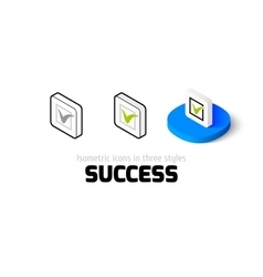 Success icon in different style vector image