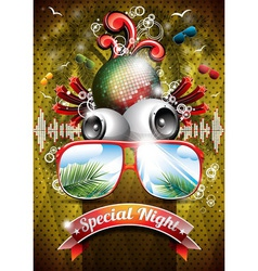 Summer Beach Party Flyer Design with sunglasses vector
