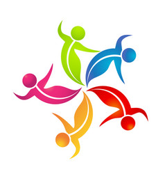 teamwork dance people logo vector image