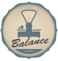 vintage emblem retro balance vector image
