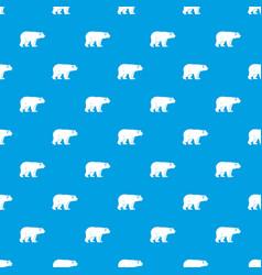 Wild bear pattern seamless blue vector