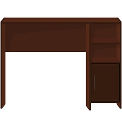 Wooden office desk vector image