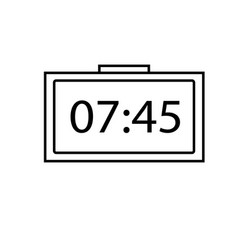 digital clock alarm icon vector image