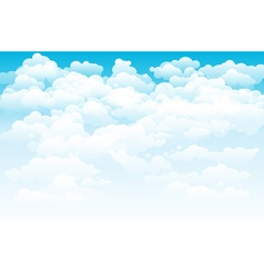 Editable of light clouds in a blue sky made using vector image