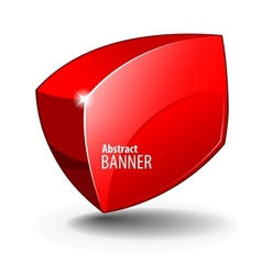 elegant Red Shiny Glass Banner vector image vector image