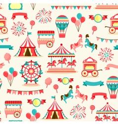 Seamless pattern - vintage carnival vector image