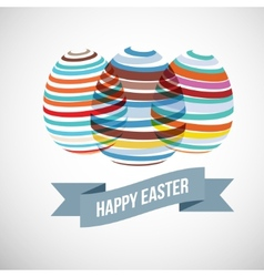 Easter eggs strips vector image vector image