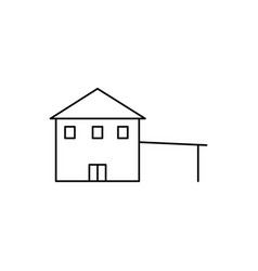 house with parking icon vector image