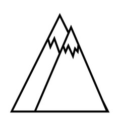mountains outline icon vector image