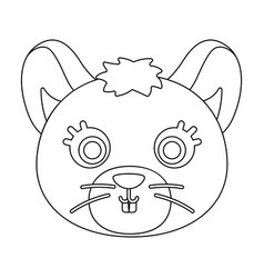 mouse muzzle icon in outline style isolated on vector image