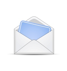 Open envelope with empty card vector image