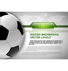 football world gray layout vector image