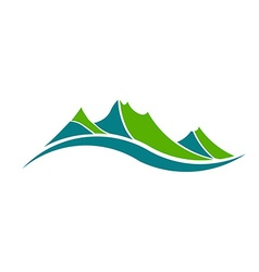 Green mountains logo vector