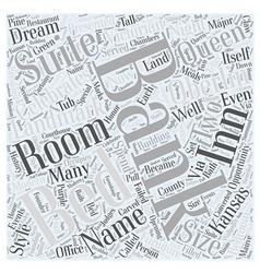 The landmark inn word cloud concept vector
