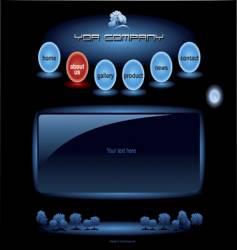 website blue spheres template vector image