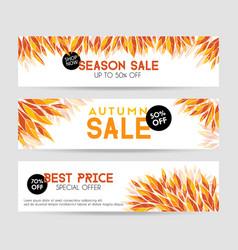 autumn sale banners season sale template vector image