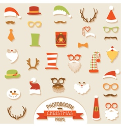 Christmas Retro Party set vector image vector image
