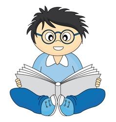 happy child reading vector image vector image