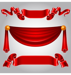 Ribbon red vector image vector image