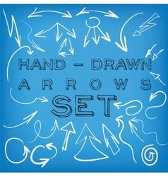 Set of hand-drawn arrows vector image vector image